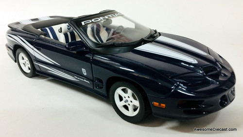 Road Signature 1:18 1999 Pontiac Firebird Trans Am Convertible 30th Anniversary Edition, Blue