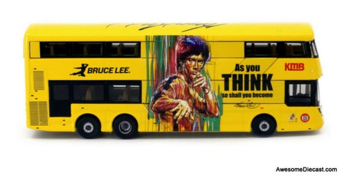 Only One!! 80M 1:76 Volvo B8L Double Decker Bus: KMB, Bruce Lee 80th Anniversary Edition