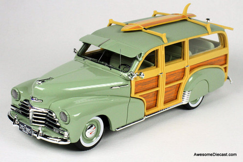 Goldvarg Collection 1:43 1948 Chevrolet Fleetmaster Woodie, Satin Green