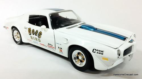 "American Muscle 1:18 1972 Pontiac Trans Am:  Arnie ""The Farmer"" Beswick"