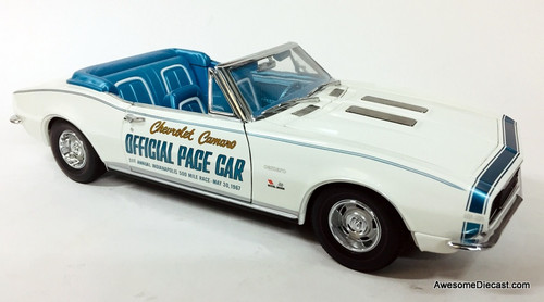 RARE!! ExactDetail 1:18 1967 Chevrolet Camaro Official Pace Car: Indianapolis Speedway