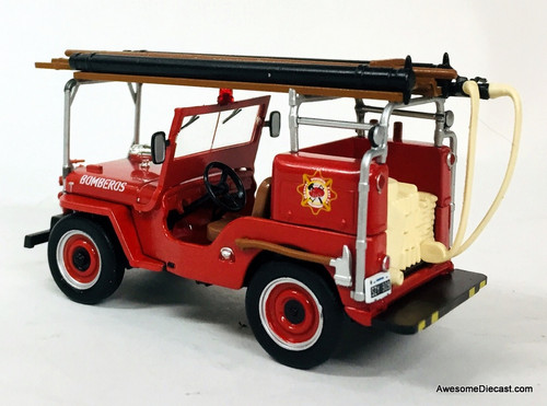 DeAgostini 1:43 1946 Jeep CJ2A: Madrid Fire Department, Spain