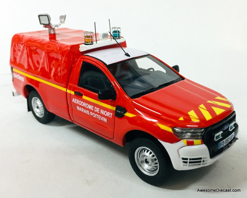 Alarme 1:43 Ford Ranger Pick-Up Fire Rescue: Niort-Marais Poitevin Airport, France