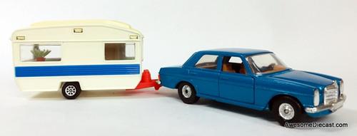 Corgi 1975 Mercedes-Benz 240D & Touring Caravan Set