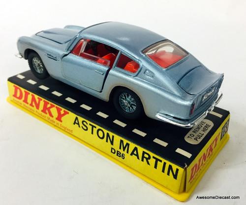 RARE!! Dinky 1:43 1966 Aston Martin DB6, Silver/Blue