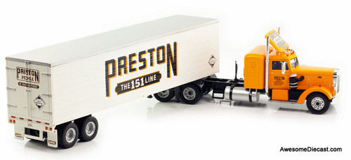 IXO 1:43 1952 Peterbilt 350 Sleeper w/ Enclosed Trailer: Preston Trading