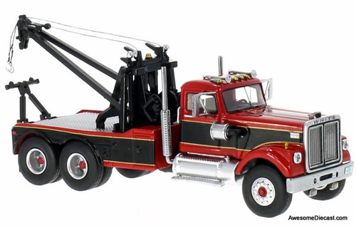 Neo 1:64 1977 White Road Boss Tow Truck, Red/Black