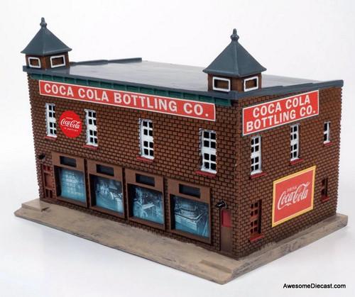 CMW 1:87 1950-1960s Era Coca-Cola Bottling Plant Building (Red Brick w/ Coca Cola Graphics)
