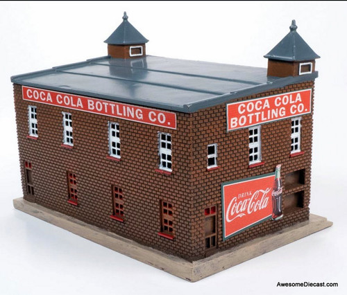 CMW 1:87 1950-1960s Era Coca-Cola Bottling Plant Building (Red Brick w/ Coca Cola Graphics)