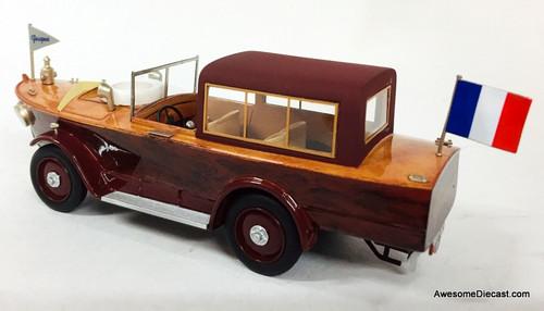Franstyle 1:43 1925 Peugeot 177 Motorcar Boat w/ Cabin