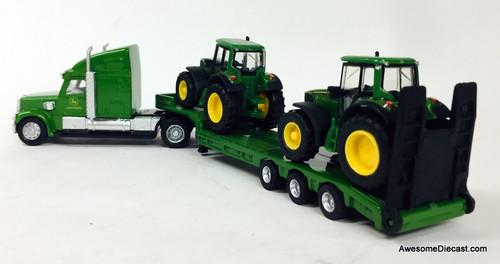 SIKU 1:87 Peterbilt Sleeper Cab w/Lowboy Trailer & John Deere Tractors