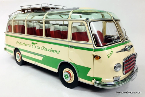 Schuco 1:18 1959 Setra S6 Tour Bus w/ Panorama Roof