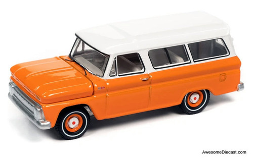 AutoWorld 1:64 1965 Chevrolet Suburban, Orange/White