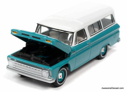 AutoWorld 1:64 1965 Chevrolet Suburban, Green/White