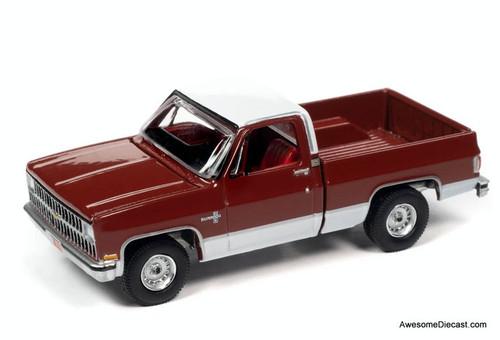 AutoWorld 1:64 1981 Chevrolet Silverado C10 Fleetside, Red/White