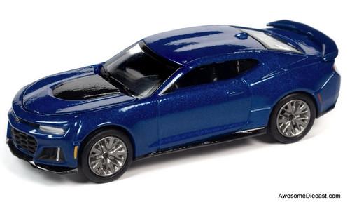 AutoWorld 1:64 2018 Chevrolet Camaro ZL1, Hyper Blue Metallic