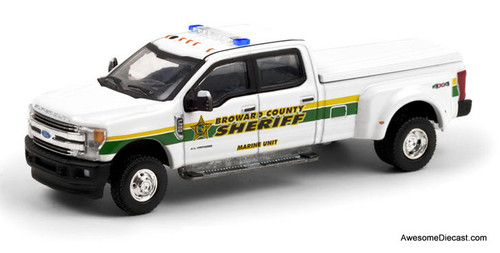 Greenlight 1:64 2018 Ford F-350 Lariat: Broward County (Florida) Marine Unit