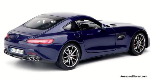 Norev 1:18 2019 Mercedes Benz GT-S V8 Bi Turbo AMG, Metallic Blue
