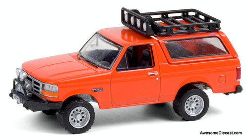 Greenlight 1:64 1995 Ford Bronco Off Roading, Orange
