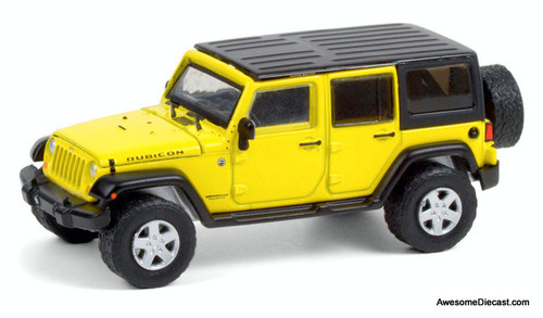 Greenlight 1:64 2008 Jeep Wrangler Rubicon, Detonator Yellow