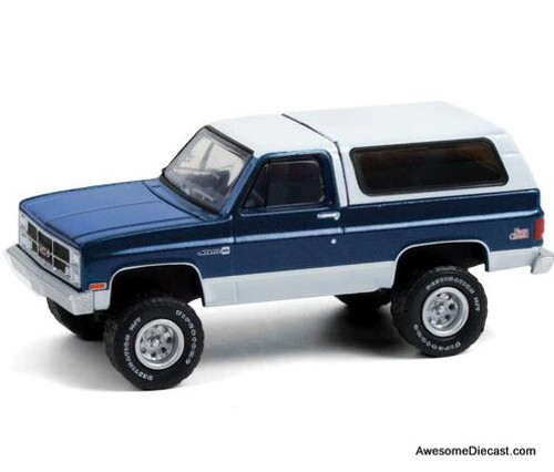 Greenlight 1:64 1987 GMC Jimmy Sierra Lifted, Blue/White