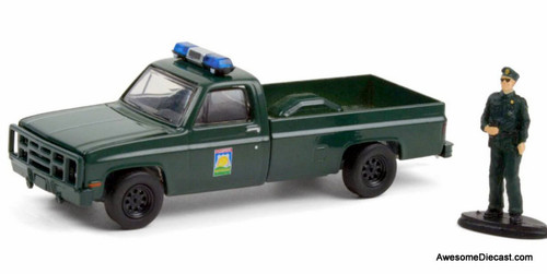 Greenlight 1:64 1986 Chevrolet M1008 w/Law Enforcement Officer: Florida Office Of Agricultural Law
