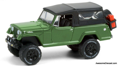 Greenlight 1:64 1968 Jeep Jeepster Commando Convertible Off Roading, Green