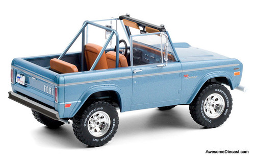 Greenlight 1:18 1969 Ford Bronco Sport Convertible, Brittany Blue
