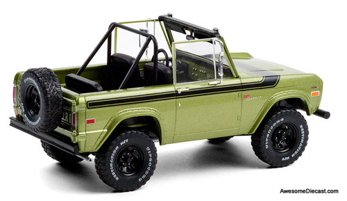 Greenlight 1:18 1975 Ford Bronco Sport Convertible, Medium Green Glow
