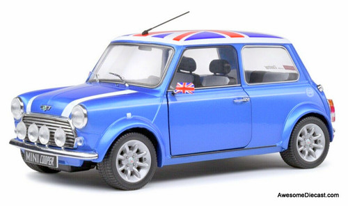 Only One!! Solido 1:18 Mini Cooper Sport Special Edition, Fisherman Blue