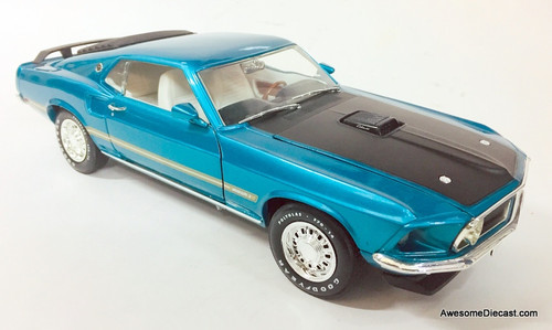 American Muscle 1:18 1969 Ford Mustang Mach 1, Metallic Turquoise