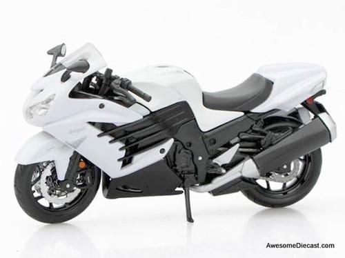 Maisto 1:12 Kawasaki Ninja ZX-14R, White