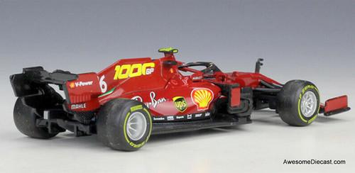 Burago 1:43 2020 Ferrari Formula 1 #16 Tuscan Grand Prix : Ferrari's 1000th Race, Charles Leclerc