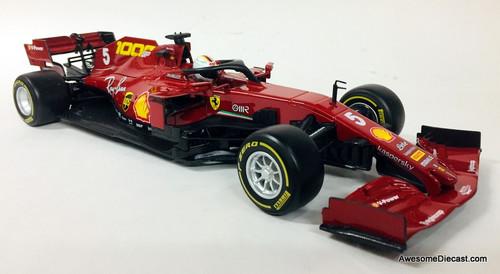 Burago 1:18 2020 Ferrari Formula 1 #5 Tuscan Grand Prix : Ferrari's 1000th Race, Sebastian Vettel