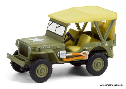 Greenlight 1:64 1940 Willys MB Jeep: 80th Anniversary Edition