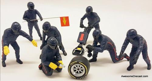 American Diorama 1:18 Formula 1 Pit Crew 7 Figures, Blue