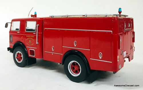Hatchette 1:43 Fiat 150 Pump Tanker Fire Truck: Milan Fire Department, Italy