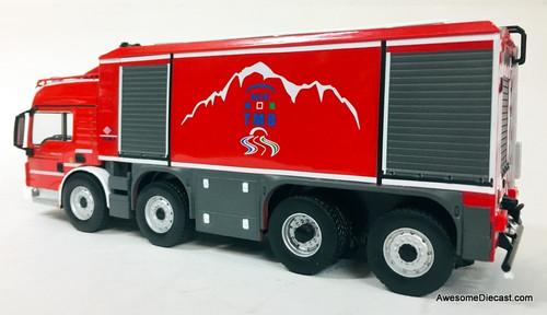 Hatchette 1:43 MAN TGS  Proteus Tunnel Fire / Foam Truck