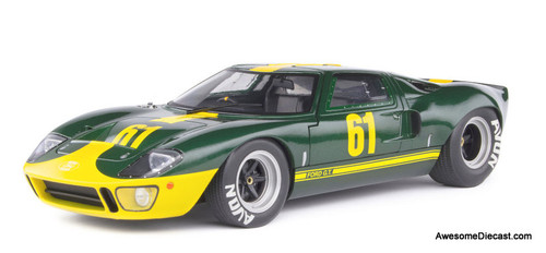 Solido 1:18 1966 Ford GT40 MK 1 #61, Metallic Green: Jim Clark Racing
