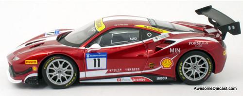 Burago 1:24 2017 Ferrari 488 Challenge: Formula Racing