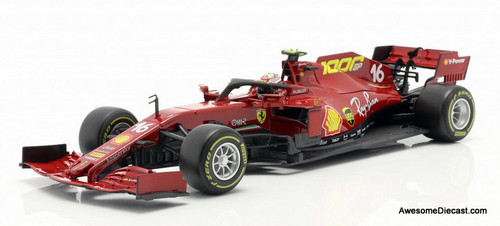 Burago 1:18 2020 Ferrari Formula 1 #16 Tuscan Grand Prix : Ferrari's 1000th Race, Charles Leclerc