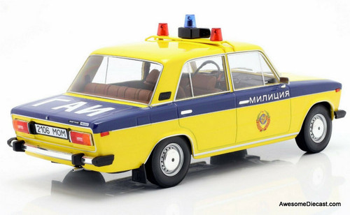 Triple 9 Collection 1:18 1976 Lada 2106 1600: Moscow Police Department, Russia