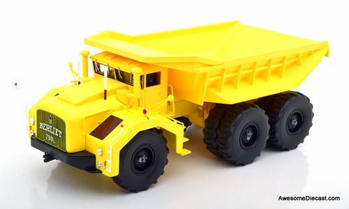 RARE!! Norev 1:43 1959 Berliet T100 N3 6x4 Mining Dump Truck, Yellow