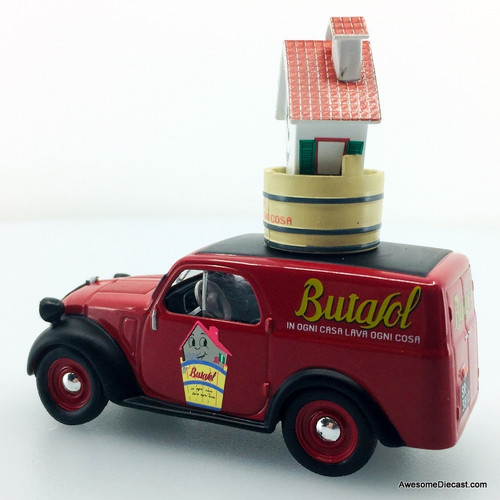 Hatchette 1:43 1949 Fiat 500A Furgoncino Delivery Van: Butasol House Cleaning Products