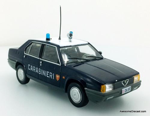 Hatchette 1:43 1986 Alfa Romeo 90 Super: Milan Police Department, Italy