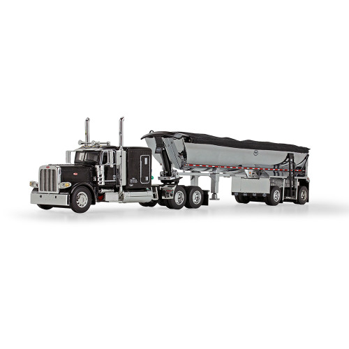 "DCP 1:64 Peterbilt 389 w/ 63"" Sleeper & MAC Trailer: Black Cab"