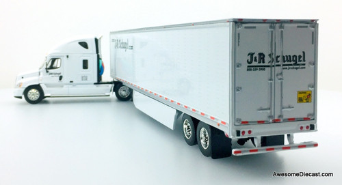 DCP 1:64 Freightliner Cascadia High Roof w/Skirted  Refrigerated Trailer: J&R Schugel Trucking