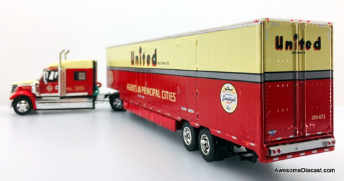 DCP 1:64 International Lonestar w/Powermover Trailer: United Van Lines