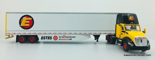 DCP 1:64 Kenworth T680 Day Cab w/53' Van Trailer w/Roll Up Door: Estes Household Moving