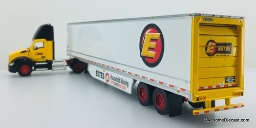 DCP 1:64 Kenworth T680 Day Cab w/53' Van Trailer w/Roll Up Door: Estes Household Moving